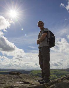 David on Froggatt Edge