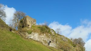 Peveril Castle viewed from Cave Dale