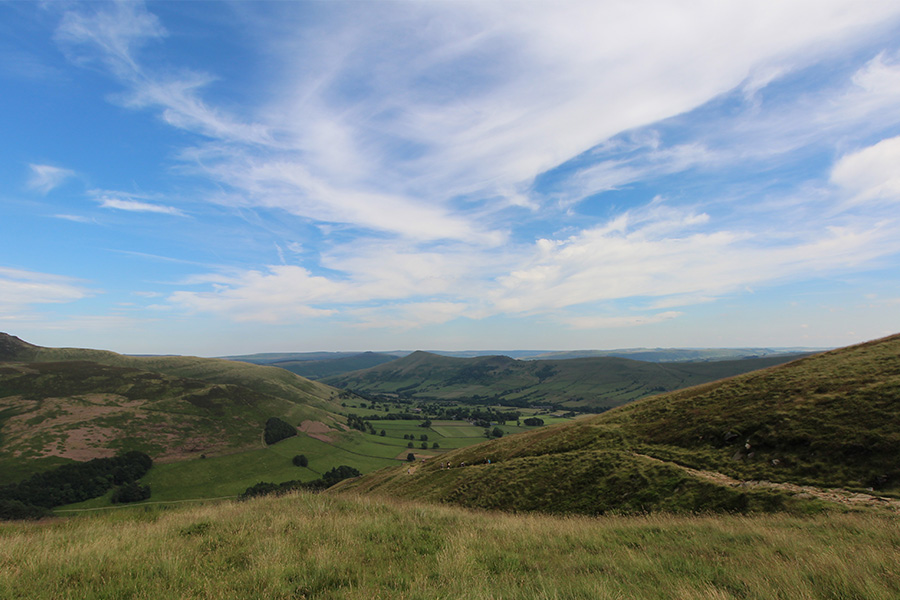 Edale viewed from Grindslow Knoll