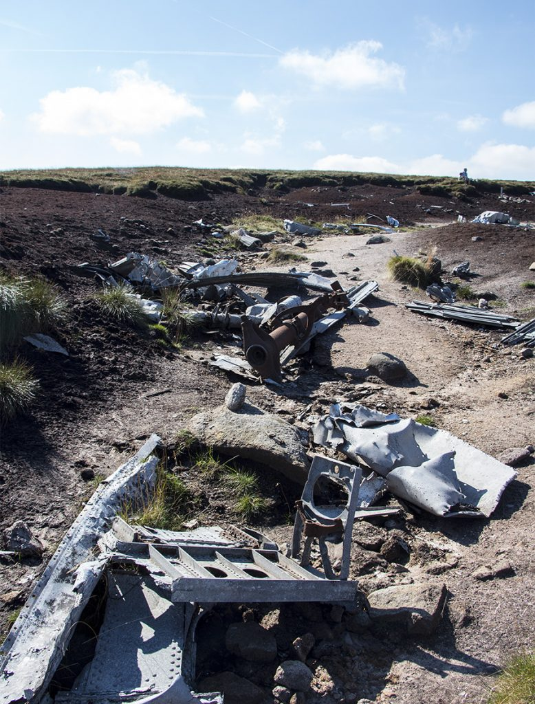 Over Exposed Crash Site Higher Shelf Stones, Bleaklow