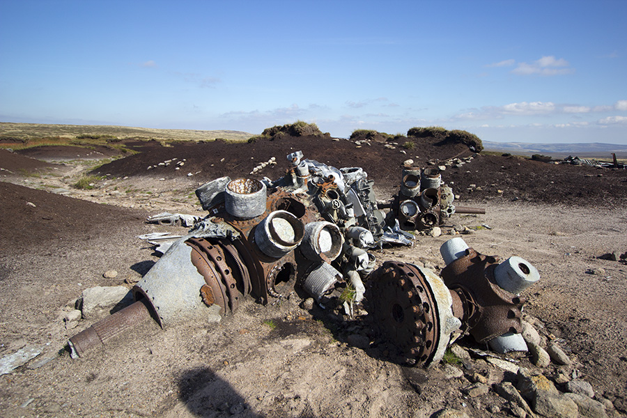 Over Exposed Crash Site On Bleaklow