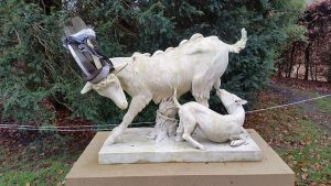 New sculpture at Chatsworth House