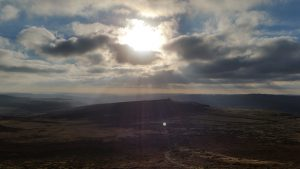 Evening sun taken from Higgar Tor