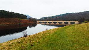 Ashopton Viaduct at Ladybower Reservoir
