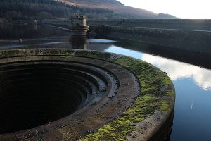 The west plugole at Ladybower Reservoir