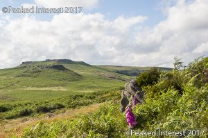 Carl Wark and Higgar Tor from Burbage South - 9601