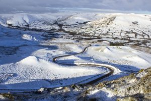 The Road from Edale to Mam Tor in Winter