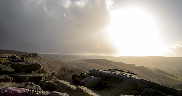 Beautiful Light on Stanage Edge