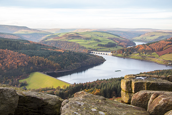 Bamford Edge in The Autumn