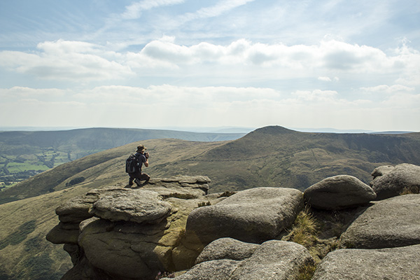 Kinder Scout Via Ringing Roger and Grindsbrook Knoll