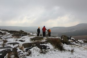 Climbers on Burbage Edge