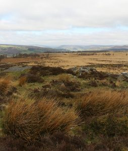 View towards Stanage Edge from Curbar Edge