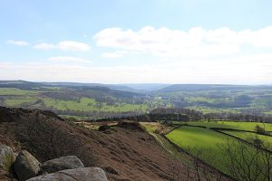 Chatsworth House in the Distance off Curbar Edge
