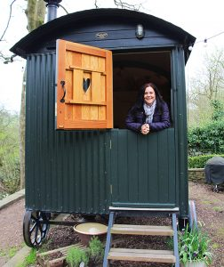 Rachel in The Hut, Eyam