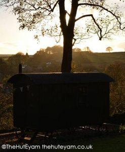 Sunrise over Eyam and The Hut