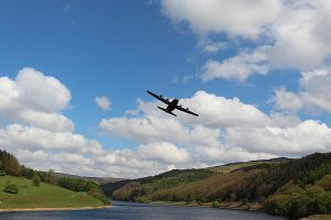 Hercules C130 over Ladybower Reservoir