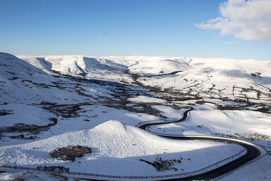 Mam Tor and The Great Ridge In Winter