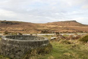 Water Trough in Burbage Valley with Karl Wark and Higgar Tor in the Background