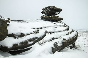Snow and Ice on Derwent Edge